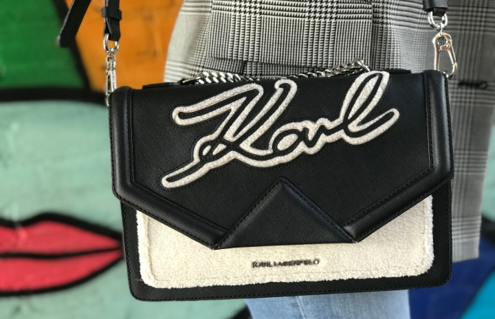 Karl Lagerfeld K/Holiday Shoulder Bag